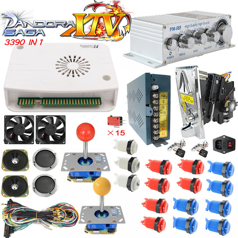pandora box 14 3d arcade 3390 in1 game pandora box arcade game diy parts kit