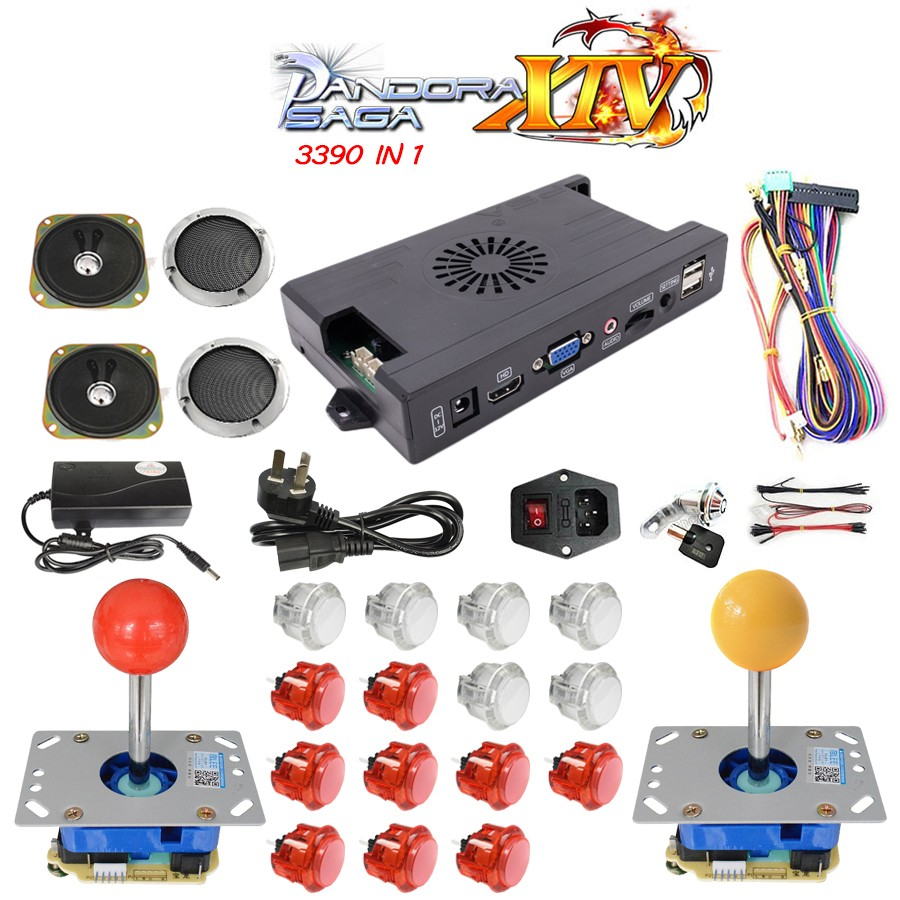 product-3390 in 1 3D pandora Box 14 DIY Arcade Kit game board 8 way American Style joystick Push Bu