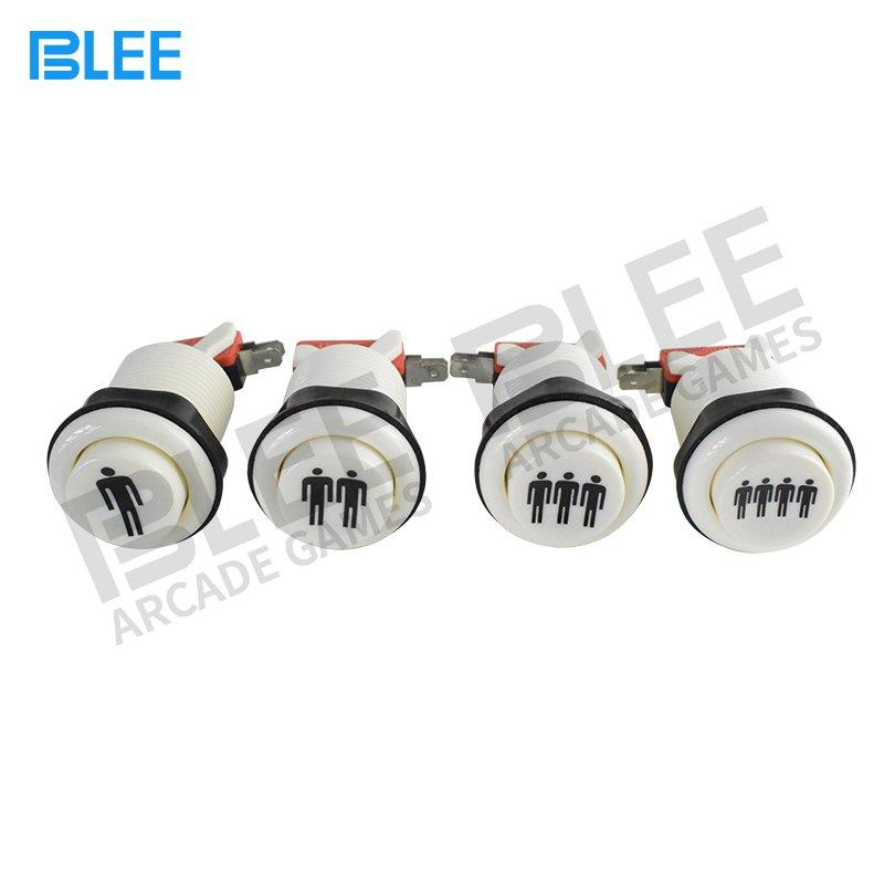 BLEE-Free Sample 1 Player Concave Arcade Push Buttons | Led Arcade Buttons Factory