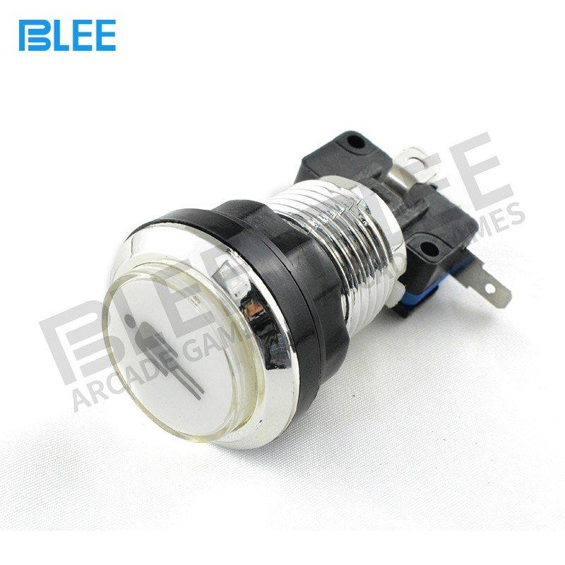 BLEE-Arcade Push Buttons | 1 Player Durable Chrome Plated Illuminated Arcade-1
